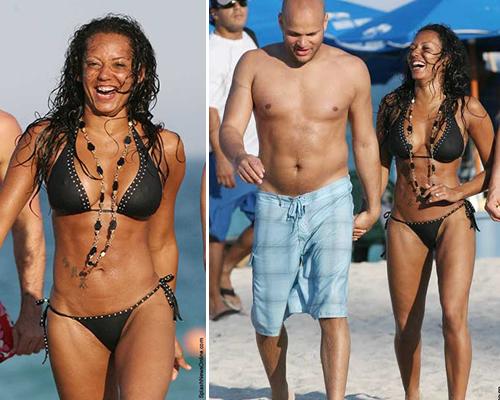 scaryspiaggia Mel B prende il sole a Miami