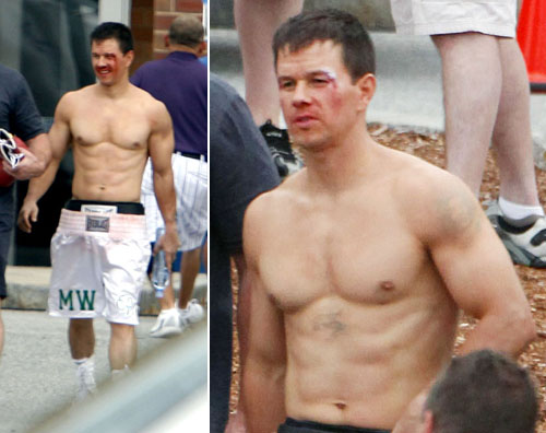 "Mark Wahlberg sul set di ""The Fighter"" 