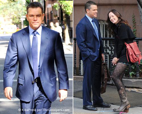 damon set Matt Damon al lavoro con Emily Blunt