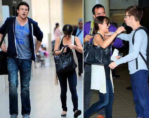 glee cast aeroporto I ragazzi di Glee in partenza da LA