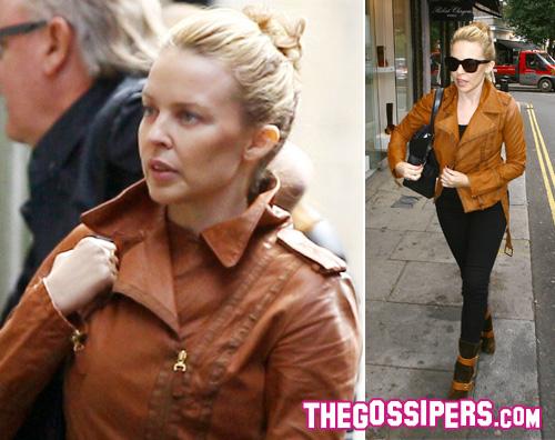 kylie minogue senzatrucco Kylie Minogue senza trucco a Londra