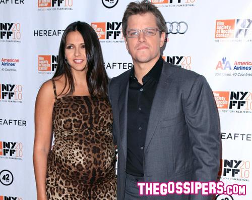 luciana matt damon Fiocco rosa per Matt Damon e la moglie!