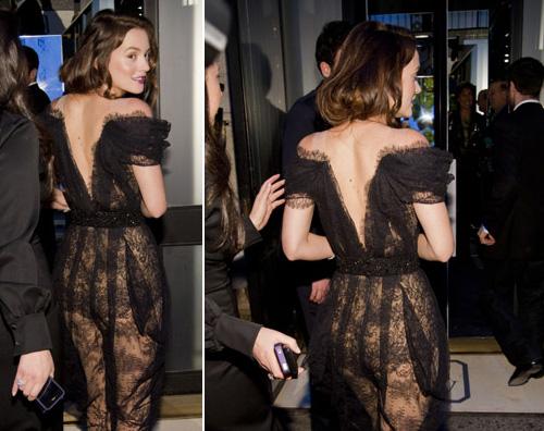 size 40 66366 15a40 VEDO NON VEDO- Leighton Meester sceglie un abito trasparente ...