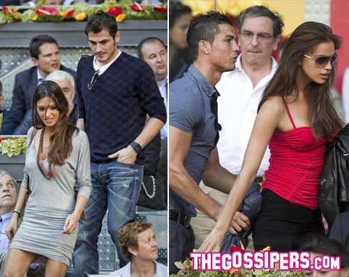 coppiespagnole Cristiano Ronaldo e Iker Casillas con le fidanzate allOpen di Madrid