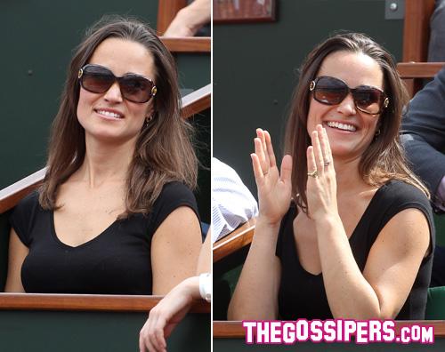 pippa rolland Anche Pippa Middleton al Roland Garros