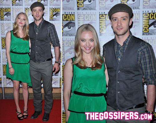 comic con amanda justin Justin Timberlake e Amanda Seyfried insieme al Comic Con