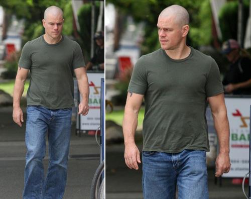 matt damon pelato Matt Damon completamente rasato a Vancouver
