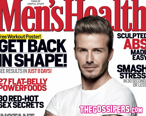 david beckham mens health David Beckham in forma a 36 anni