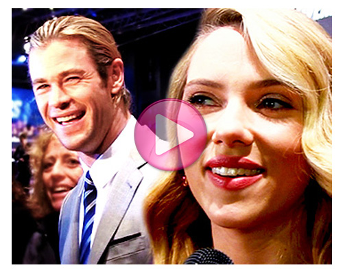 chris scarlett VIDEO: Chris Hemsworth e gli Avengers sul red carpet romano