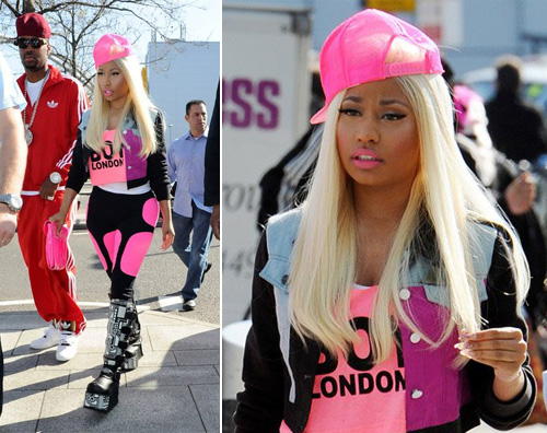 nicki.rosa  Nicki Minaj si fa notare a Londra