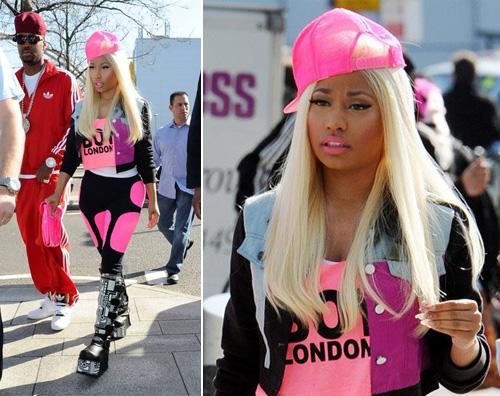 nicki.rosa  Nicki Minaj si fa notare a Londra