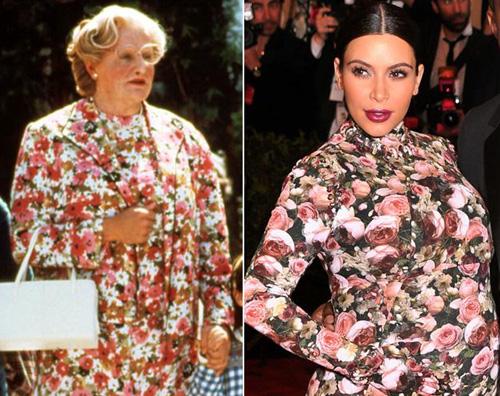 Kim Kardashian vs mrs Doubtfire: a chi sta meglio?  Gossip