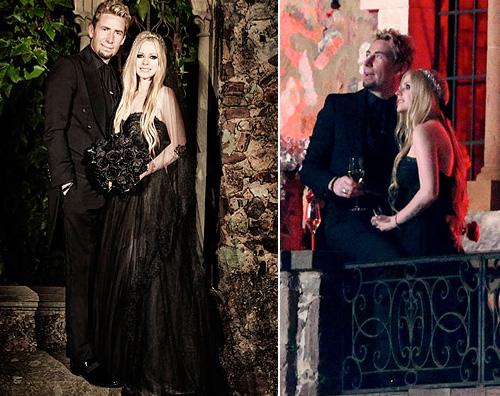 Matrimonio In Nero : Nuove foto dal matrimonio in nero di avril lavigne gossip