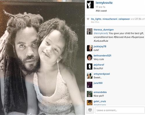 lenny Lenny Kravitz nostalgico su Instagram