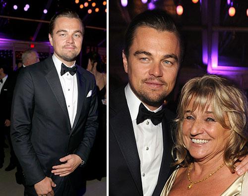 leo Leonardo Di Caprio con mamma e fidanzata dopo gli Oscar