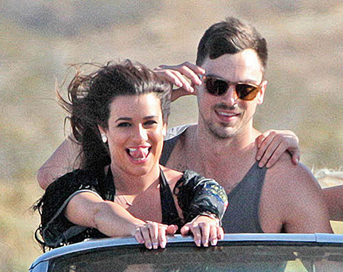 "Lea Michele sul set di ""On my way"""