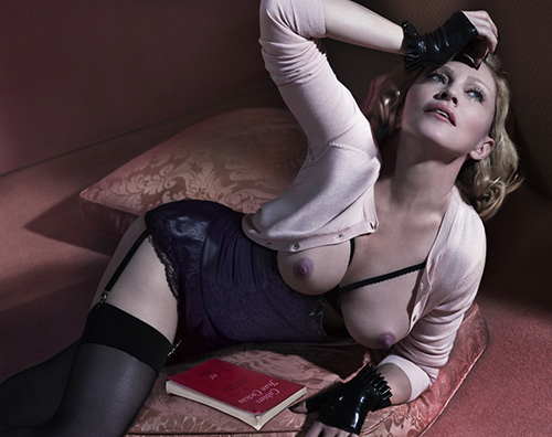 Madonna13 Madonna in topless su Interview Magazine