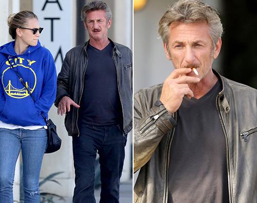 Sean Penn e Dylan Sean Penn passeggia con sua figlia dopo la rottura con Charlize Theron