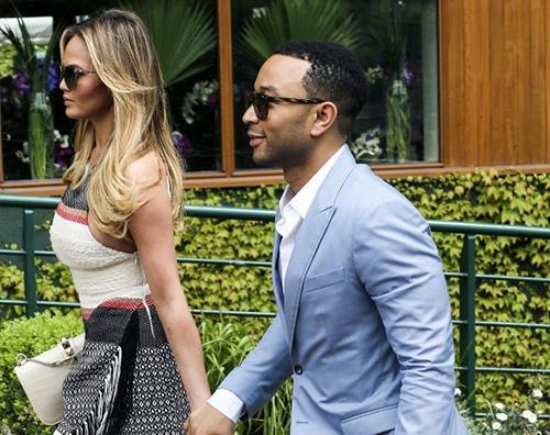 John Legend e Chrissy Teigen stilosi per Wimblendon