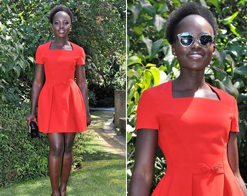 Lupita Nyong o Lupita Nyongo a Parigi per Dior