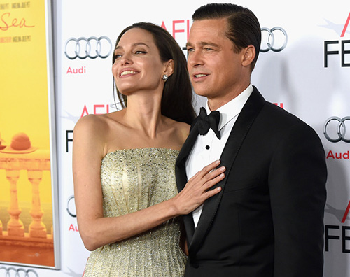 AngelinaJolie bradpitt Angelina e Brad presentano By The Sea a Los Angeles
