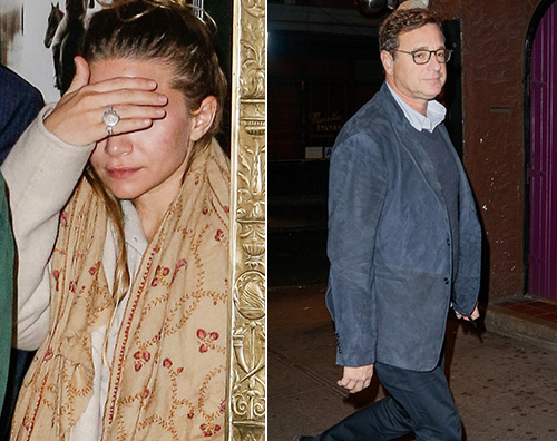 Ashley Olsen Ashley Olsen e Bob Saget insieme a New York