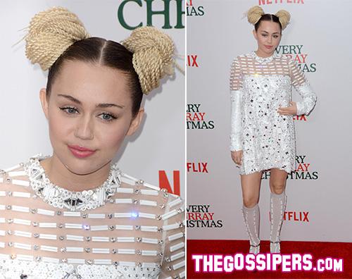 MileyCyrus Miley Cyrus presente A Very Murray Christmas a NY