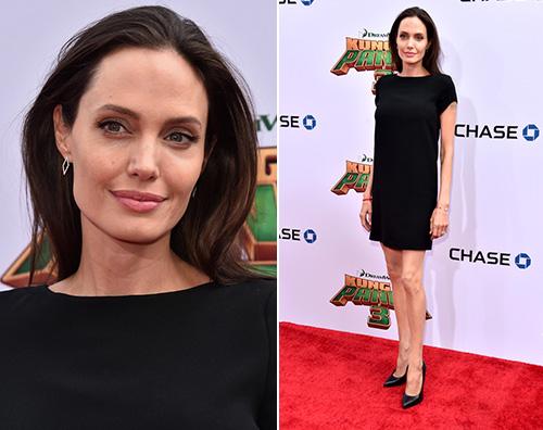 Angelina Jolie Angelina Jolie presenta Kung Fu Panda insieme ai suoi figli