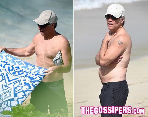 Jon Bon Jovi, relax al mare con la famiglia