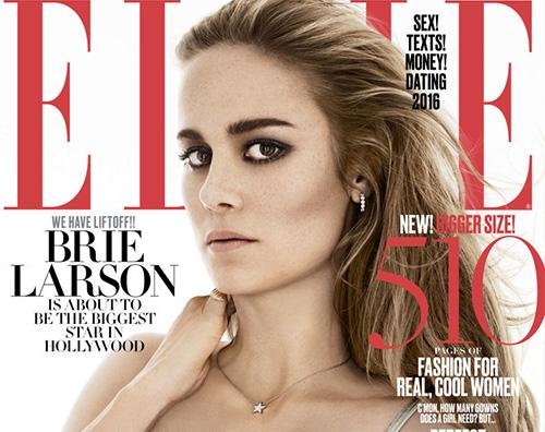 Brie Larson 3 Brie Larson posa su Elle in attesa degli Oscar