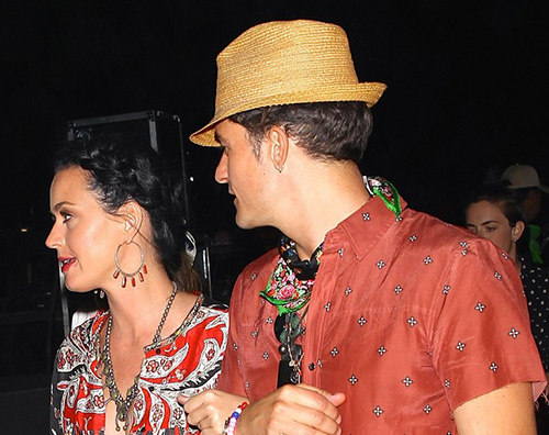 Katy Orlando 1 Katy Perry e Orlando Bloom in coppia al Coachella
