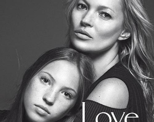 Cover Vogue Kate Moss sulla cover di Vogue Italia con Lila Grace