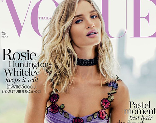 Rosie Huntington Whiteley 1 Rosie Huntington Whiteley sulla cover di Vogue Thailandia