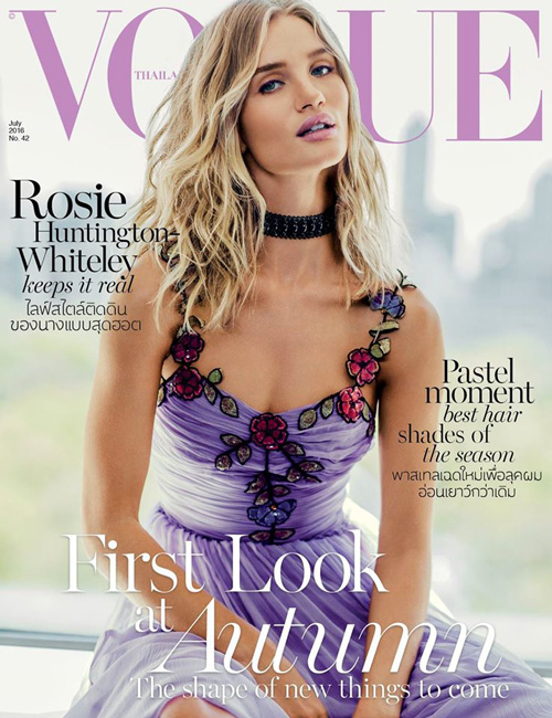 Rosie Huntington Whiteley 2 Rosie Huntington Whiteley sulla cover di Vogue Thailandia
