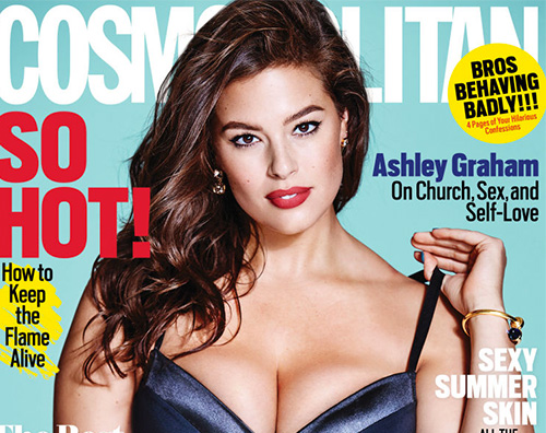 Ashley Graham cover Ashley Graham, una curvy su Cosmopolitan