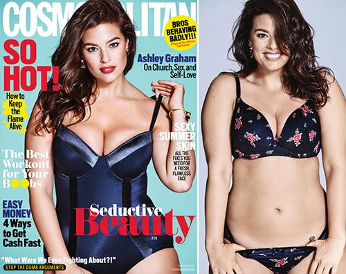 Ashley Graham Ashley Graham, una curvy su Cosmopolitan