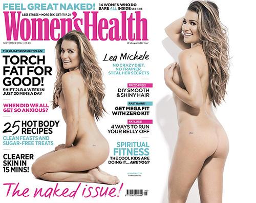 Lea Michele 2 Lea Michele si spoglia per la cover di Womens Health UK