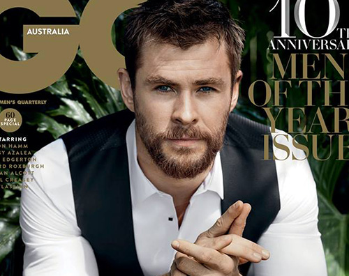 Chris Hemsworth Chris Hemsworth Man Of The Year per GQ Australia