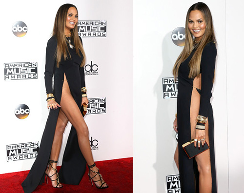 Chrissy AMAs 2016: i look sul red carpet
