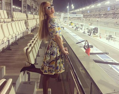 Paris Hilton  Paris Hilton ad Abu Dhabi per il GP di Formula1