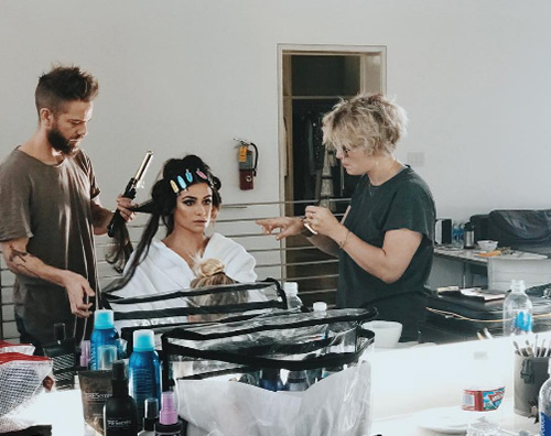 Lea Michele 1 Lea Michele, pomeriggio di shooting per il nuovo album