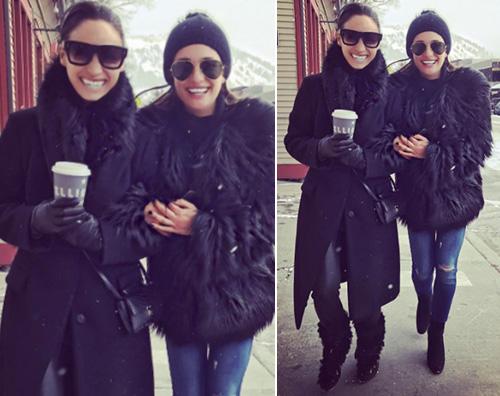 Il look da neve di Lea Michele