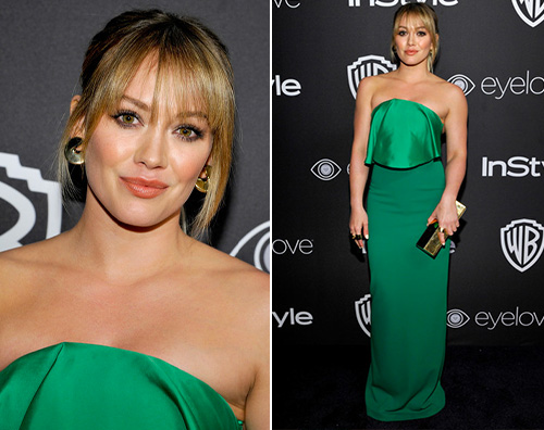 Hilary Duff 2 1 Hilary Duff, in verde per l after party dei Golden Globes