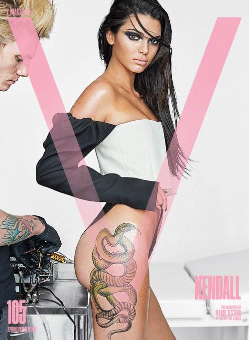 Kendall 1 Kendal Jenner super tatuata per V Magazine