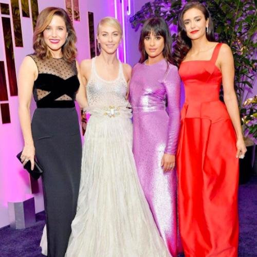 Lea Michele Sophia Bush Nina Dobrev e Julianne Hough Nina, Sophia, Julianne e Lea, quattro bellissime ai Golden Globes 2017