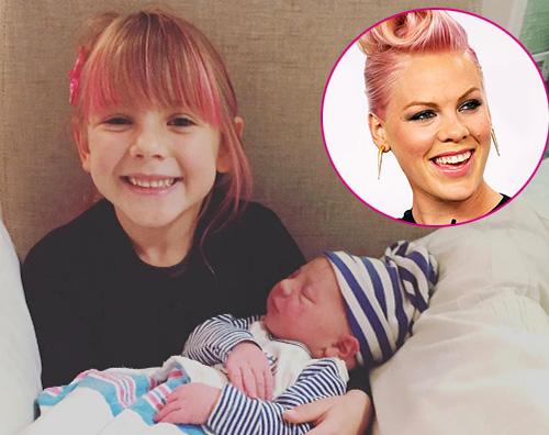Pink Pink posta una foto di Willow e Jameson