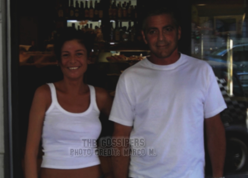 georgegoffimilano2 George Clooney con Vanja Goffi a Milano