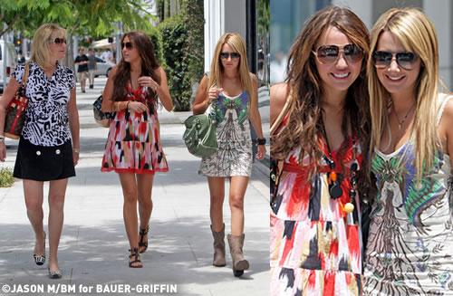 tisdalemiley Ashley e Miley fanno shopping insieme