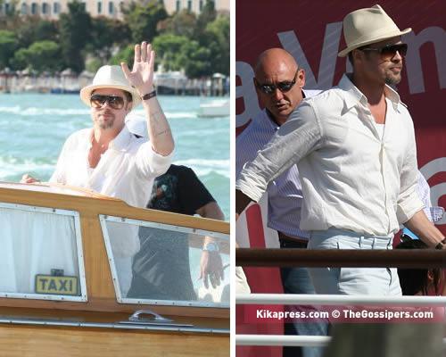 bradpitt Brad Pitt sbarca a Venezia