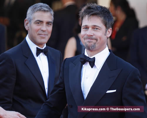 redcarpetburn2 George e Brad sul red carpet di Venezia